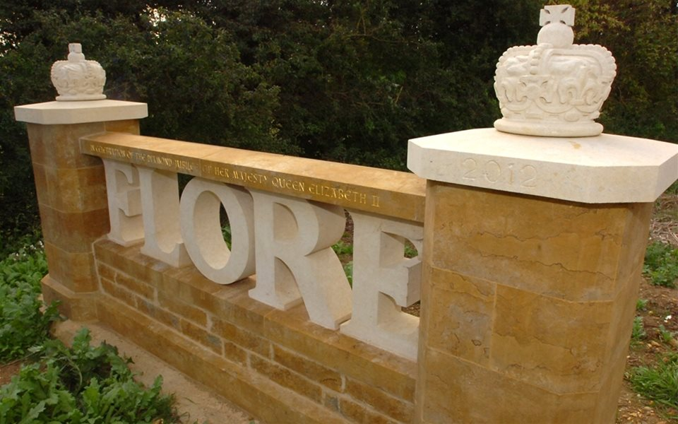Carving - flore sign