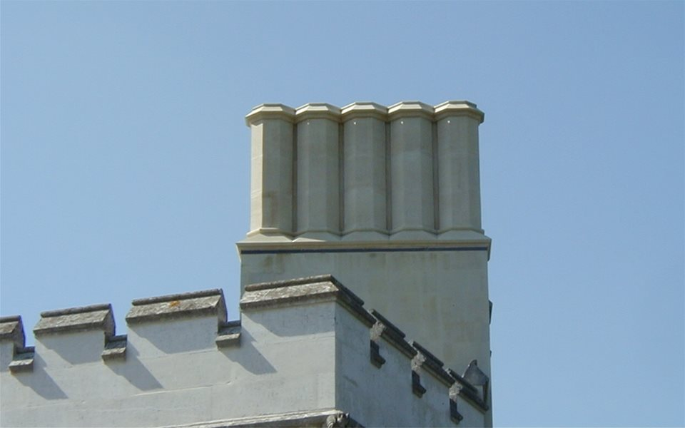 Little Gaddesden Lodge new chimneys