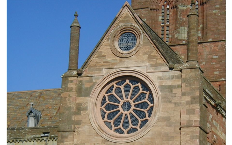 Rose window - St Magnus Cathedral - Orkney
