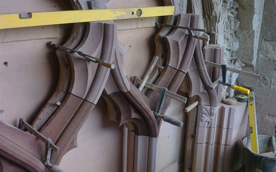 Crick - tracery going in