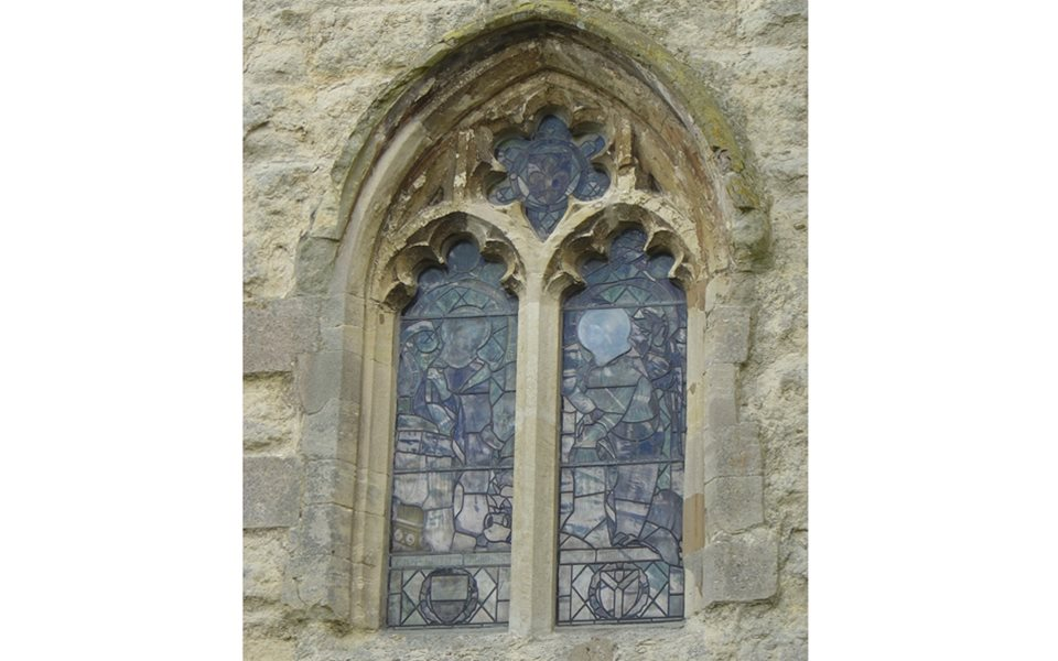 North Marston - west window