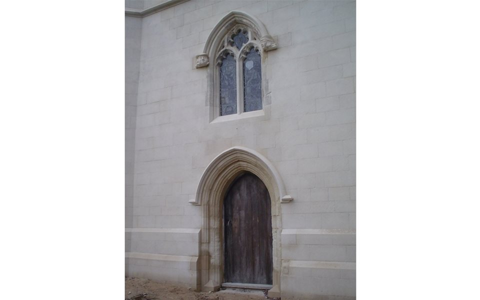 North Marston - west door and window after