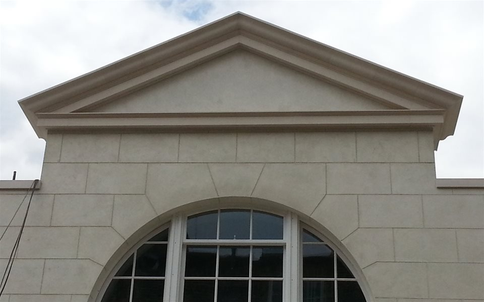 New stonework on private residence