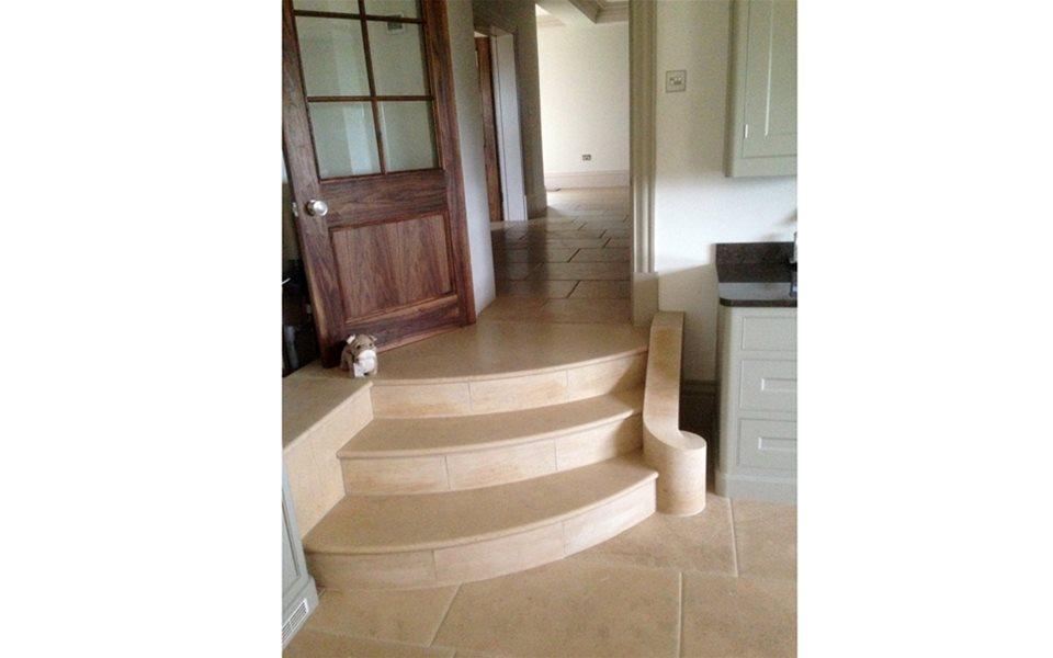 Internal steps - making a beautiful feature in this kitchen